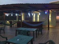 Rooftop lounge area at Room2Board